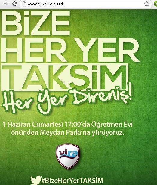 Hayde Vira Taksim organizasyonu